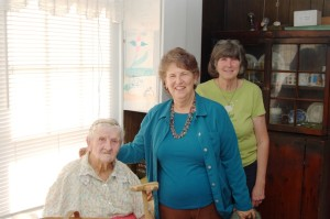 Edith Cox, Barb  and Mary Campbell