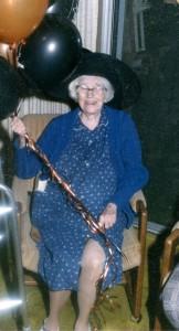 Elsie -age 97- her ever present smile. 1985