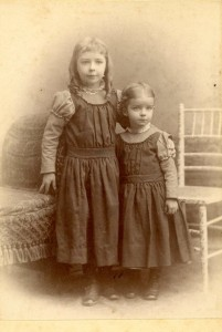 Hylinda and younger sister Alice. I wonder why Elsie was not in this picture