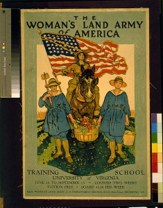 Elsie served as part of the Women's Land Army during WW l. Love this poster.